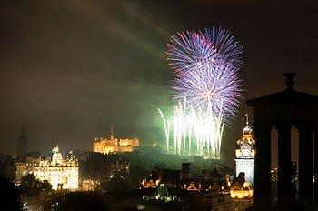 Fireworks in Princes Street, Edinburgh