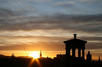 Sunset from Calton Hill, Edinburgh